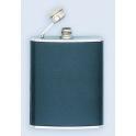 flasque inox, 180ml,gainee cuir, bouchon baionnette