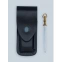 etui Pielcu, modele cuir noir reglabe, pour manche 11 a 13cm