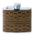 flasque inox,120ml, gainee cuir western, bouchon baionnette