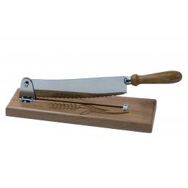 couteau a pain sur socle en bois