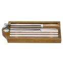 couteau a pain sur socle en bois avec claie amovible
