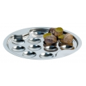 assiette a escargots en inox