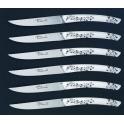 coffret Arto,couteaux Arthaud Chosson, le Thiers, manche blanc