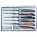 coffret de 6 couteaux Laguiole, G.David, assortiment bois