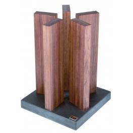 bloc a couteaux Kai, en bois rouge, pour 10 couteaux