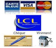Règlement sécurisé carte bleu LCL