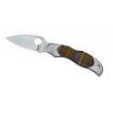 couteau Spiderco, modele Kopa, manche en bois alternes