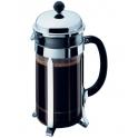 cafetiere verre, modele Chambord a piston 1 litre
