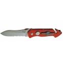 couteau Eickhorn, modele PRT II, manche alu anodise rouge