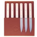 coffret de 6 couteaux Perceval 9.47 blanc